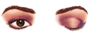 Maquillaje ojos separados
