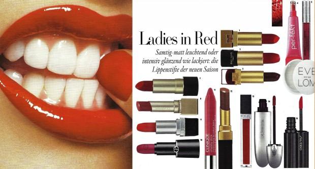 Labiales rojos de Vogue
